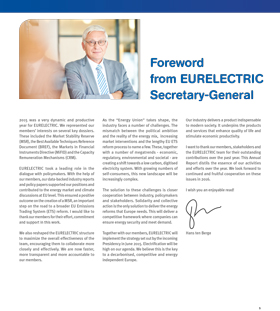 Foreword from EURELECTRIC Secretary-General